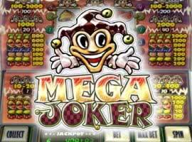 Mega Joker und die Auszahlungen.